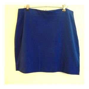 Express Blue Mini Skirt